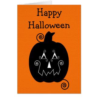 Halloween Stripes Jack O'Lantern Card