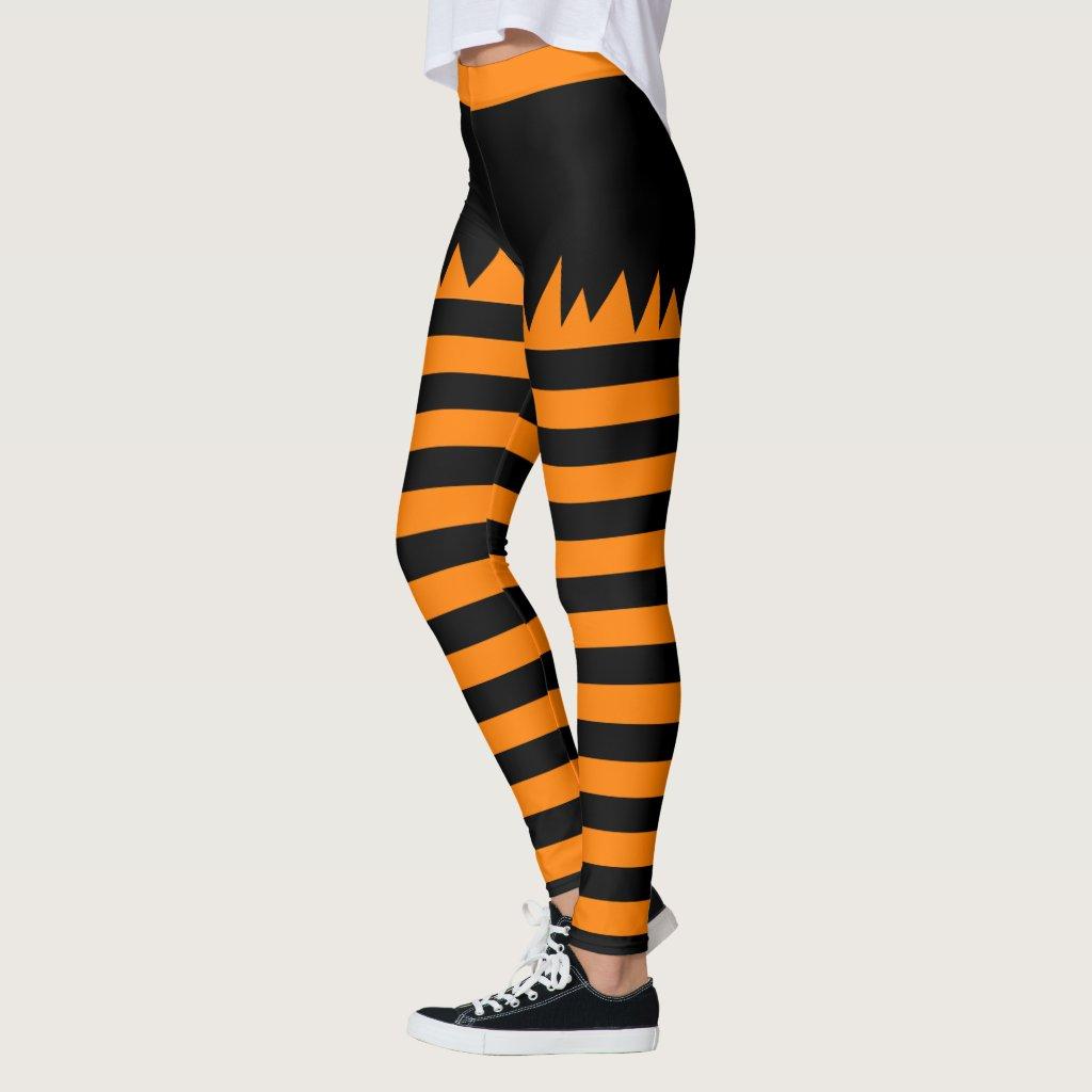 Halloween Stripes Leggings