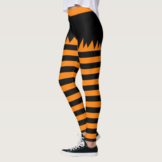Halloween Stripes Leggings