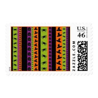 Halloween Stripes Postage Stamp stamp