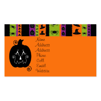 Halloween Stripes Profile Card Double-Sided Standard Business Cards (Pack Of 100)