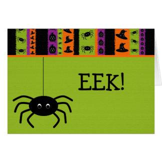 Halloween Stripes Spider Card