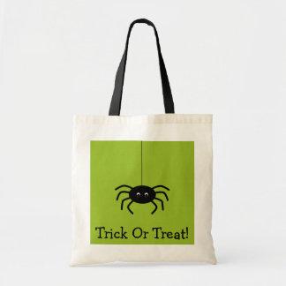 Halloween Stripes Spider Trick Or Treat Bag