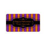 Halloween Stripes Too Custom Address Label