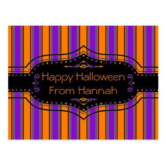 Halloween Stripes Too Personalized Postcard