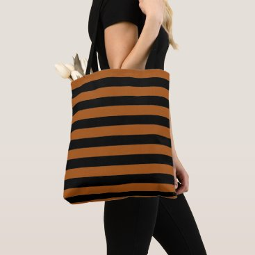 Halloween Themed Halloween Stripes Tote Bag