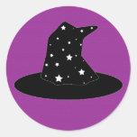Halloween Stripes Witch Hat Sticker