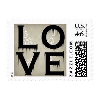 Halloween Style Love Postage Stamps stamp