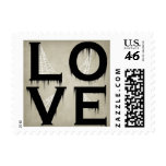 Halloween Style Love Postage Stamps