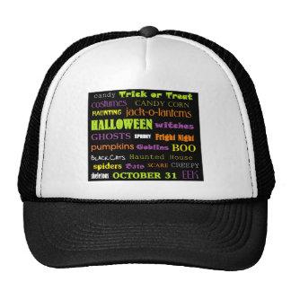 Halloween Subway Art Words Trucker Hat