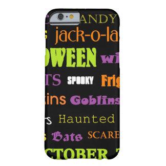 Halloween Subway Art Words iPhone 6 Case