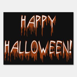 Halloween Suffering Text Yard Sign