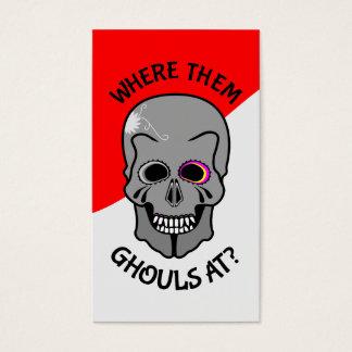 Halloween Sugar Skull Business Card