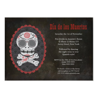 Halloween Sugar Skull Day of the Dead Party Invite