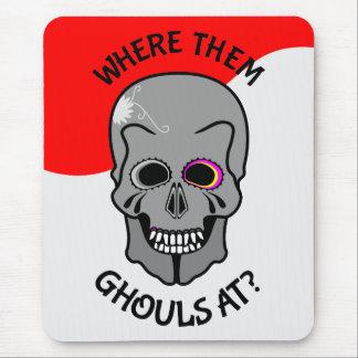 Halloween Sugar Skull Mouse Pad