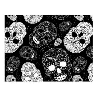 Halloween Sugar Skulls Postcard