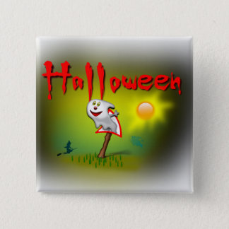 Halloween Sunshine Ghost - Pinback Button