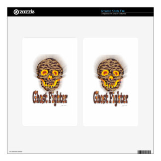 Halloween Super Ghost Fighter Gifts for all Kids Decals For Kindle Fire