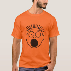 Halloween Super Scared Stick Figures's Face T-Shirt