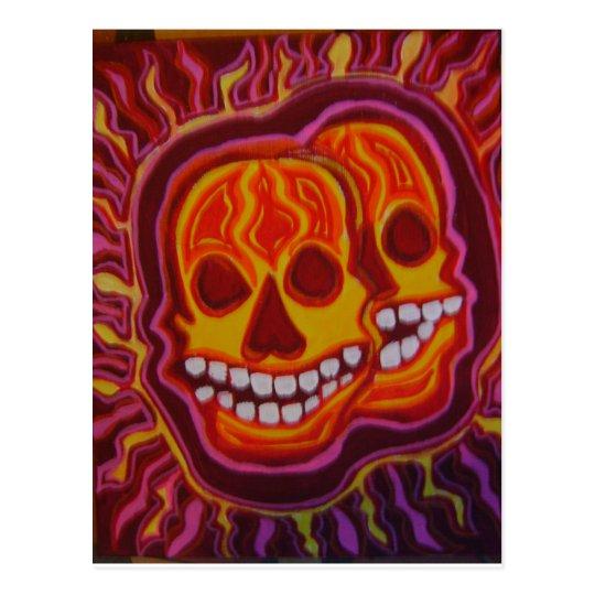 Halloween Super Skulls Postcard