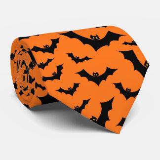 Halloween Swarm Of Flying Bats Neck Tie