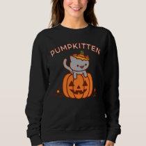 Halloween Sweatshirt: PUMPKITTEN Halloween Cat Sweatshirt