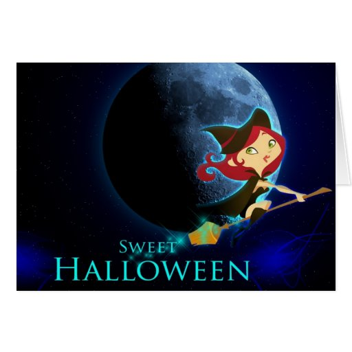 Halloween Sweet witch Card