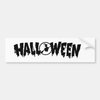 halloween symbol bumper sticker