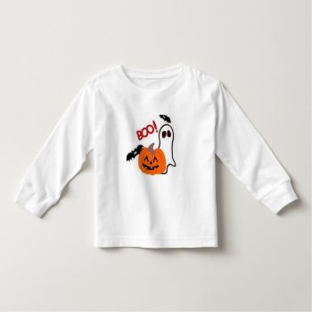 Halloween T Shirt Boo Kids Top Black And White by creativeconceptss at Zazzle