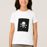 HALLOWEEN T SHIRT SKULL KIDS TOP BLACK AND WHITE