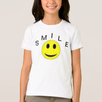 HALLOWEEN T SHIRT SMILE KIDS TOP BLACK AND WHITE
