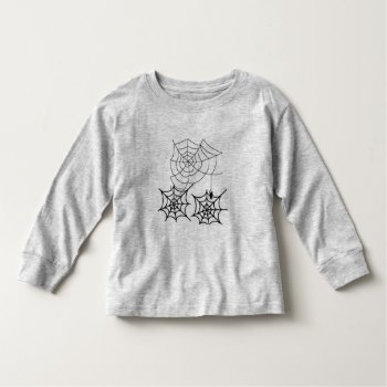 Halloween T Shirt Spider Web Top Black And White by CREATIVEforKIDS at Zazzle