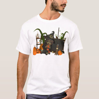 Halloween T shirt with cute little witch kids