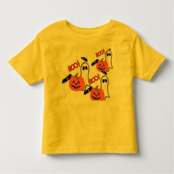 Halloween T Shirt With Pumpkin by CREATIVEforKIDS at Zazzle