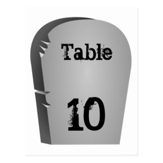 Halloween Table Number Postcard
