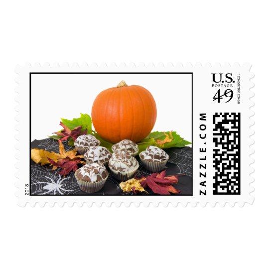 Halloween Table Postage Stamp