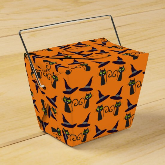 Halloween Take Out Favor Box - Cats & Hats