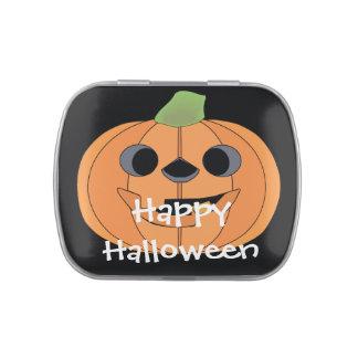 Halloween talló la cara de la calabaza