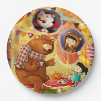 Halloween Tea Party 9 Inch Paper Plate