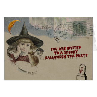 Halloween Tea Party Invitation