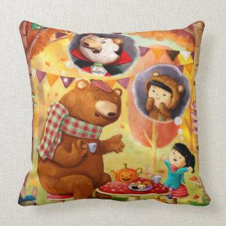 Halloween Tea Party Throw Pillow