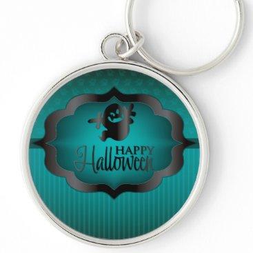 Halloween Themed Halloween teal ghost keychain