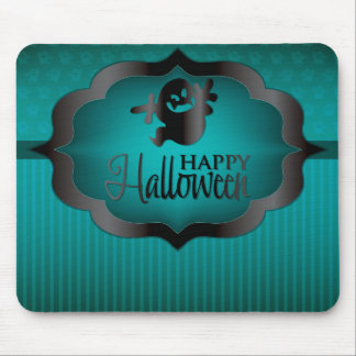 Halloween teal ghost mouse pad