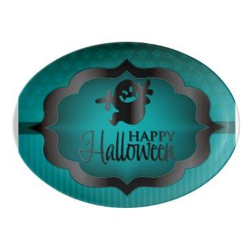 Halloween Themed Halloween teal ghost porcelain serving platter