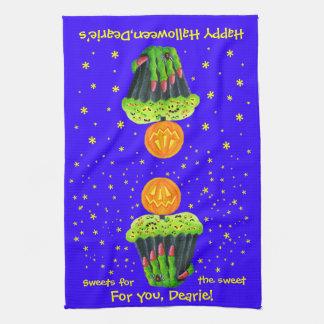 Halloween, temático, cocina, toalla, magdalena, pr