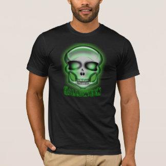 Halloween Terminator-like Zombie Skull T Shirt