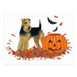 Halloween Terrier Tarjetas Postales