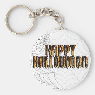 Halloween Text Burnt Drippy Text Image Keychains