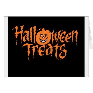 halloween text card