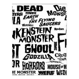 Halloween text design postcard
